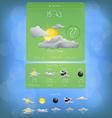 Weather widget template 5 vector