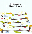 Happy flower spring background vector