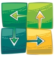 Four green arrows vector
