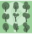 Set of cute doodle trees original cartoon tree vector