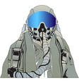 Military pilot vector