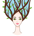Beautiful woman of spring vector