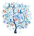 Winter decorative tree vector