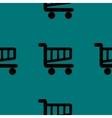 Shopping basket web icon flat design seamless vector