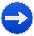 Blue roadsign pointing right vector