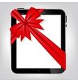 Digital tablet gift vector