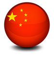 A ball designed with the flag of china vector