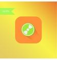 Flat design mp3 icon element vector