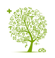 Medical tree concept for your design vector