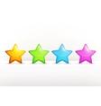 Stars icon set vector