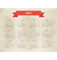 Abstract polygonal calendar vector