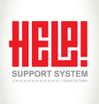 Help - support system logotype concept logo design vector