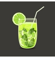 Drink in glass vector