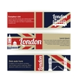 Collection of banners and ribbons with london vector