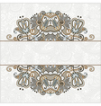 Hand draw ornate card announcement vector