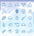 25 crime justice icons set vector