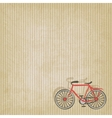 Retro striped background with bicycle vector