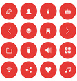 Flat icon set for web and mobile user interface vector
