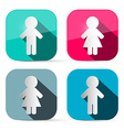 Man and woman icons - buttons web symbols in vector