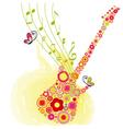 Spring guitar music vector