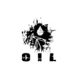 Oil industry grunge design template vector
