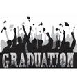Graduation celebration in silhouette vector