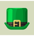 Green leprechaun hat with a buckle vector