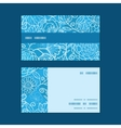 Blue field floral texture horizontal stripe frame vector