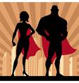 Superhero couple 4 vector