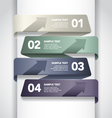 Numbered banner design vector