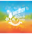 Invitation to beach party vector