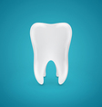 Clean healthy teeth on blue background vector