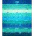 Abstract 2015 year polygonal calendar vector