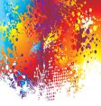 Ink splat rainbow background vector