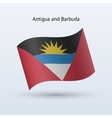 Antigua and barbuda flag waving form vector