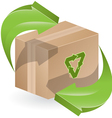 Green arrows on box vector