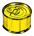 Tin can vector