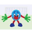 Cartoon football goalkeeper vector