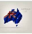 Flag of australia as the country vector