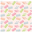 Seamless bags and shoes pattern vector