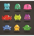 Funny game monsters collection vector