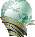 Globe surrounded by roads vector