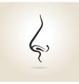 Nose icon vector