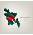 Flag of bangladesh as a country vector