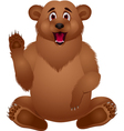 Brown bear cartoon vector