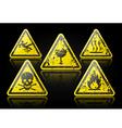 Grunge danger sign vector
