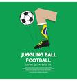 Juggling ball football or soccer vector