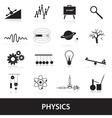 Physics icons set eps10 vector