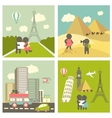 Couple in love traveling vector