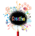 Creative pencil designs colorful concept vector